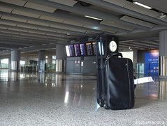 left behind (jobarracuda) Tags: travel lumix airport luggage suitcase maleta fz50 hkia hongkonginternationalairport jobarracuda