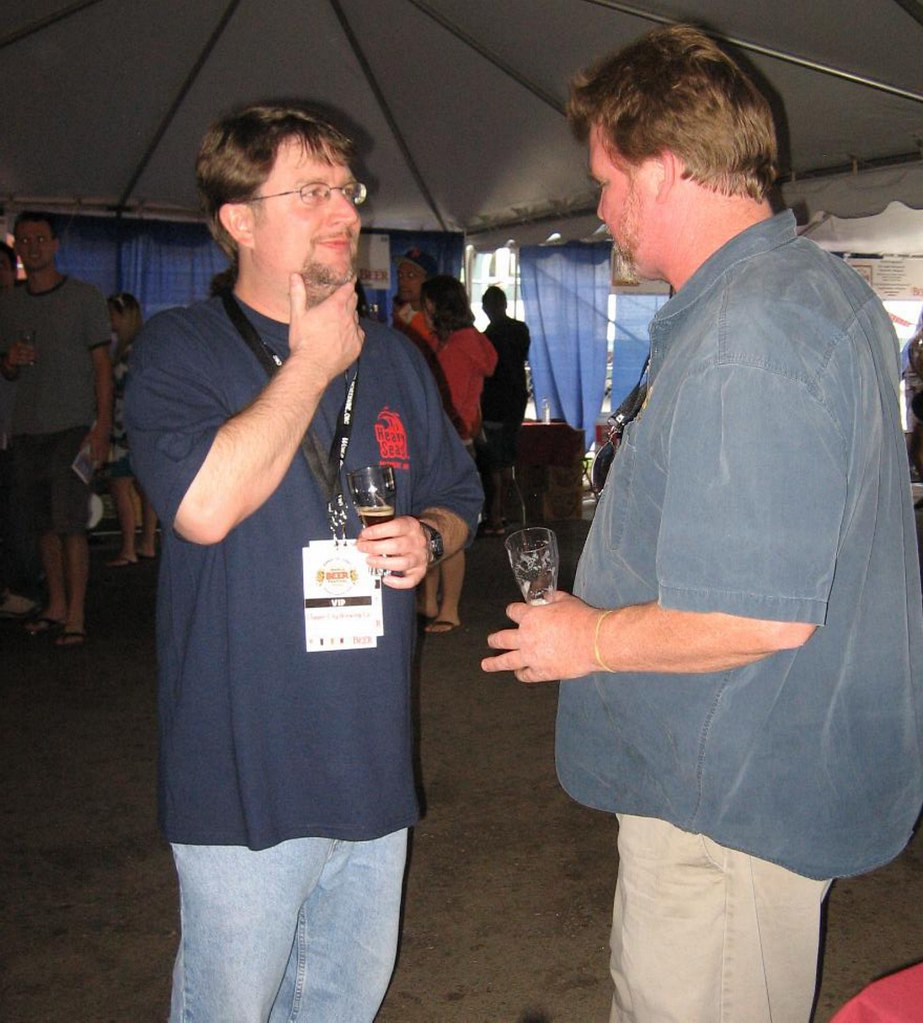 Chuck Cook (l); Harry Wannemacher (r) of Sierra Nevada Brewing