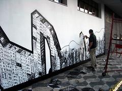 Whole wall stencil