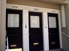 3 doors down (daisy_princess) Tags: sanfrancisco california three apartments doors roadtrip numbers bayarea addresses 1370 1374 1372