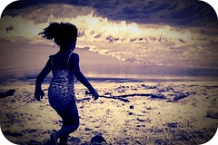 Joyful (Michelle Brea) Tags: sunset sun art beach girl swim photography lomo sand moments waves dominican photographer artistic dominicanrepublic dr joy run dominicana littlegirl fotografia capture swimsuit soe testimony feelings artista santodomingo bocachica supershot anawesomeshot superhearts popotito michellebrea