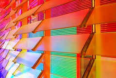 Detail of LEDs and shutters at the Torre Agbar, Barcelona (I) (Semi-detached) Tags: barcelona new glass architecture modern lights rainbow spain torre jean september led shutters shutter barcelone 2007 nouvel agbar aplusphoto