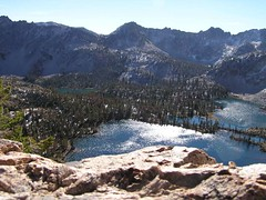 Twin Lakes from Snowyside Pass