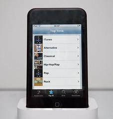 De iTunes Wi-Fi Music Store bevat onder andere een lijst van top 10 muzieknummers in verschillende genres.