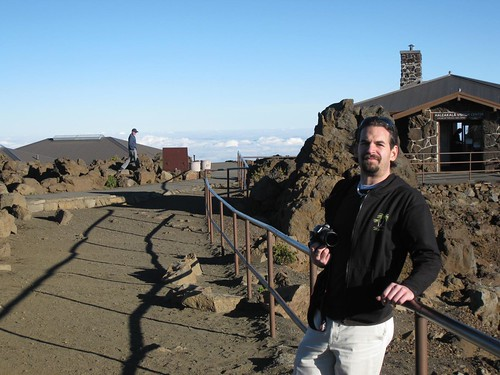 At the Haleakala Crater Lookout