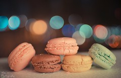 Macaroons and Bokeh (Nas t) Tags: pink color green yellow lemon dof bokeh chocolate raspberry macaroons