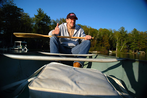 dad in canoe