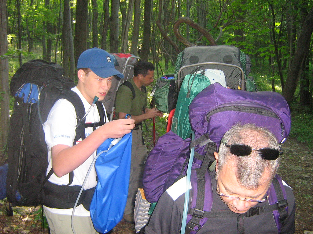 Graham packs away the camp filter