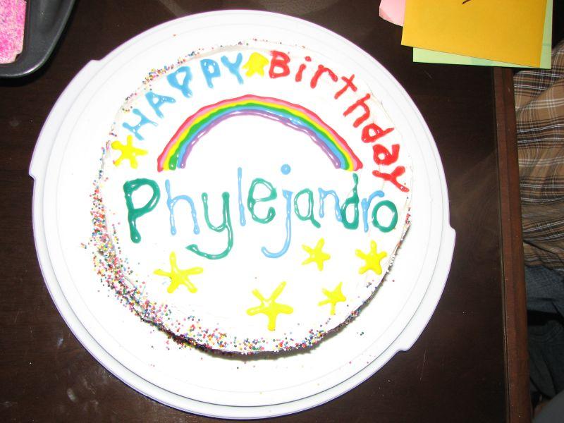 Phylan's cake, white on white