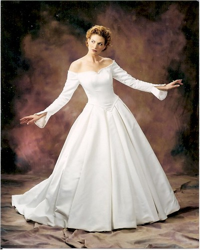 White and Spacious but Sexy and Elegant Party Gown Worn by A Sexy Woman