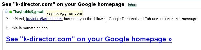 iGoogle - Share This Tab