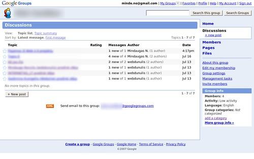 Google Groups atnaujinimai