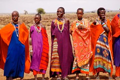 Welcome dance in massai village (pepebraulio) Tags: africa kenya afrika massai kenia masai
