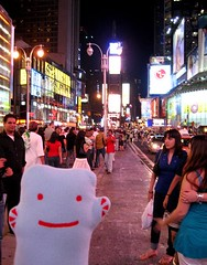 Me and my fans! (Spok-spok) Tags: city travel urban newyork cute smile boston fun toy happy design robot cool soft sweden designer vinyl swedish plush softie cuddly kawaii plushie giggling spok designertoy designerplush spoks dotdotdash spokspok