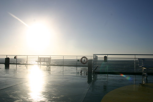 Sunrise from the Upper Deck of a Ferry 1