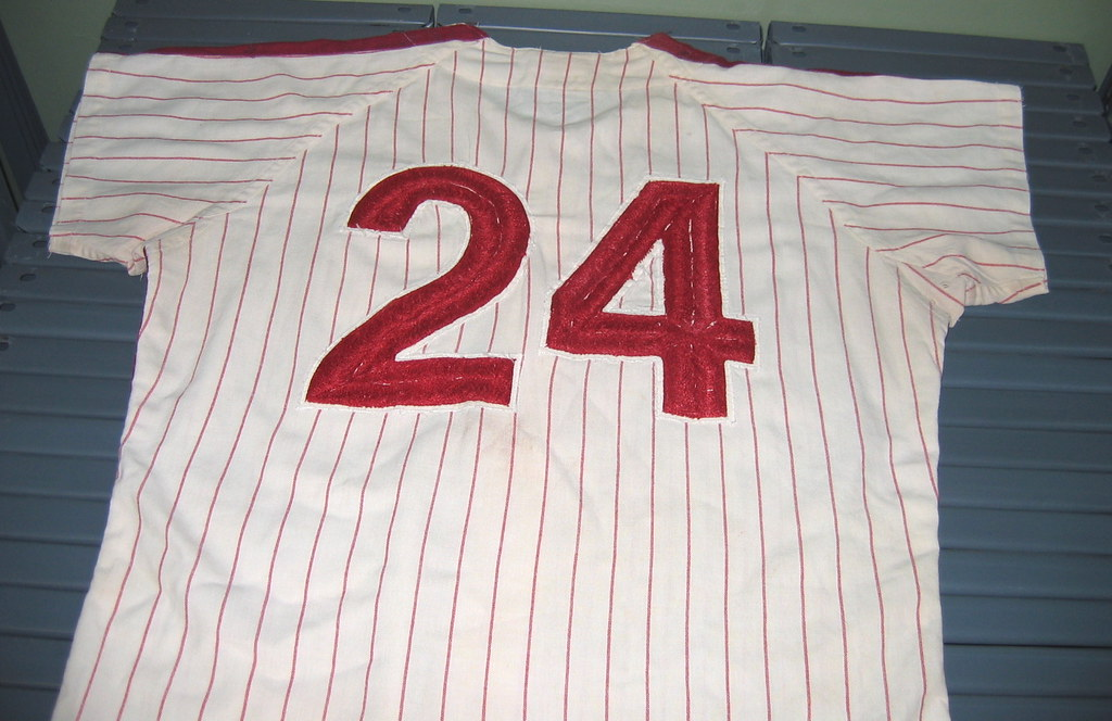 83771e6567a I loved all the chain-stitching on this 1970 Phillies jersey (worn by Byron  Browne). Check out the chest emblem, the front number, ...