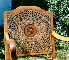Medallion backed chair