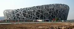 The Bird's Nest (China Chas) Tags: china roof architecture construction stadium steel beijing engineering panoramic olympic hdm 2008 1022mm herzogdemeuron birdsnest 2007 nationalstadium arup arupsport