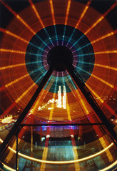 Ferris Wheel, 480 Seconds (Zeb Andrews) Tags: film portland lights pinhole nighttime ferriswheel rides zeroimage amusementparks pinscape zero69 bluemooncamera zebandrews abigfave zebandrewsphotography