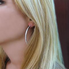 JRDunn Inside Out Diamond Hoop Earrings