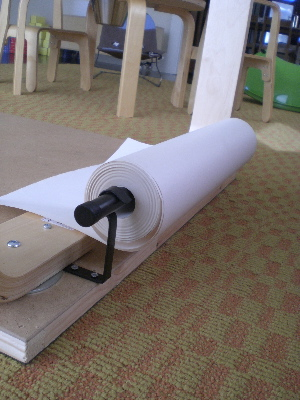 attach roll of paper