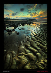Rhos-on-sea (HDR) (gav_davies) Tags: sunset sea sky beach wales reflections gavin sand ripples davies 2007 rhosonsea northwales gndphotography