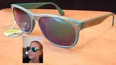 Turkosa solglasögon klar