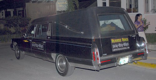 Our Ghost Tour Hearse