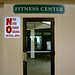Fitness center entrance signs