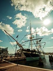 Inner Harbor (Weylyn) Tags: park city water buildings boats bay harbor maryland baltimore inner gf1 918mm