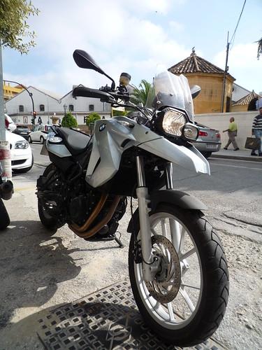 Montilla con la moto
