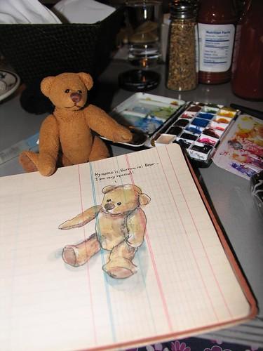 Urban Sketchers in Seattle- A happy bear