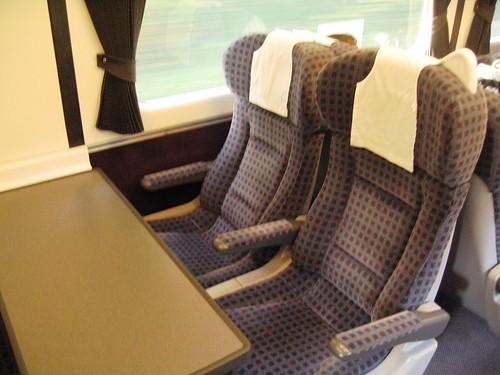 First Class seats on a Charter Train (UK)