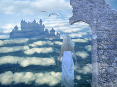 far far away (pinktigger) Tags: blue sea castle fairytale clouds fairy fantasy land fairyland faraway