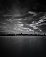 L O S T  ...  (please read) (Mahnie) Tags: longexposure sunset blackandwhite bw lake clouds myrtlebeach sad southcarolina monochromatic grief longlake grieving miscarriage infertility canon1785mm circularpolarizingfilter canon450d stackedndfilters pregnancyloss meherspritualcenter iamoneinfour