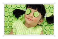 Cute.Cumber (HaMeD!caL) Tags: baby cute green girl studio cucumber hamedical blush