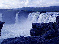 The gods waterfall (little_frank) Tags: world above travel blue wild vacation panorama white nature water vertical night river spectacular wonder freedom lava evening waterfall iceland scenery rocks europe heaven paradise peace view place natural god stones north special erosion falling fantasy stunning land gods wilderness odin thor northern scape foss pure volcanic powerful viaggi viaggio impressive vacanza freya middleearth waterscape spectacle breathless  godafoss cascata  islanda sprengisandur primordial blueribbonwinner  golddragon impressedbeauty flickrdiamond nordurland theunforgettablepictures theperfectphotographer goldstaraward spiritofphotography marcofranchino