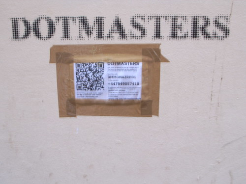 Duct-taped QR code