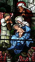 Burne Jones Glass, Rye, Sussex (Martin Beek) Tags: christmas glass mystery architecture sussex infant child christ victorian christian christmascards nativity preraphaelite lightinthedarkness stainedglasswindows burnejones jesuse morrisandco flickrchoices imagesoffaith thebirthofjesus thebestof2007 copyrightmartinbeek victorianarchitectureuk