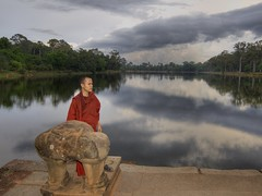 Theravada Buddhist Monk in Meditation