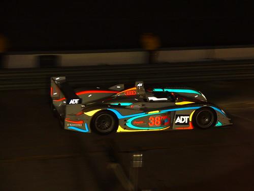 Audi R8 in pit lane.