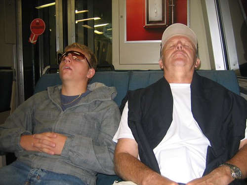 Basti and Dad had a long day :)