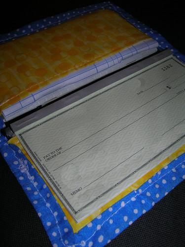 Fishy Checkbook Cover Inside