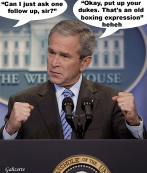 Bush: Put Up Your Dukes