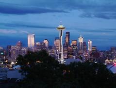 Seattle By Night (eldan) Tags: seattle longexposure usa skyline night washington picnic meetup queenanne brits kinnearpark flickrexplore