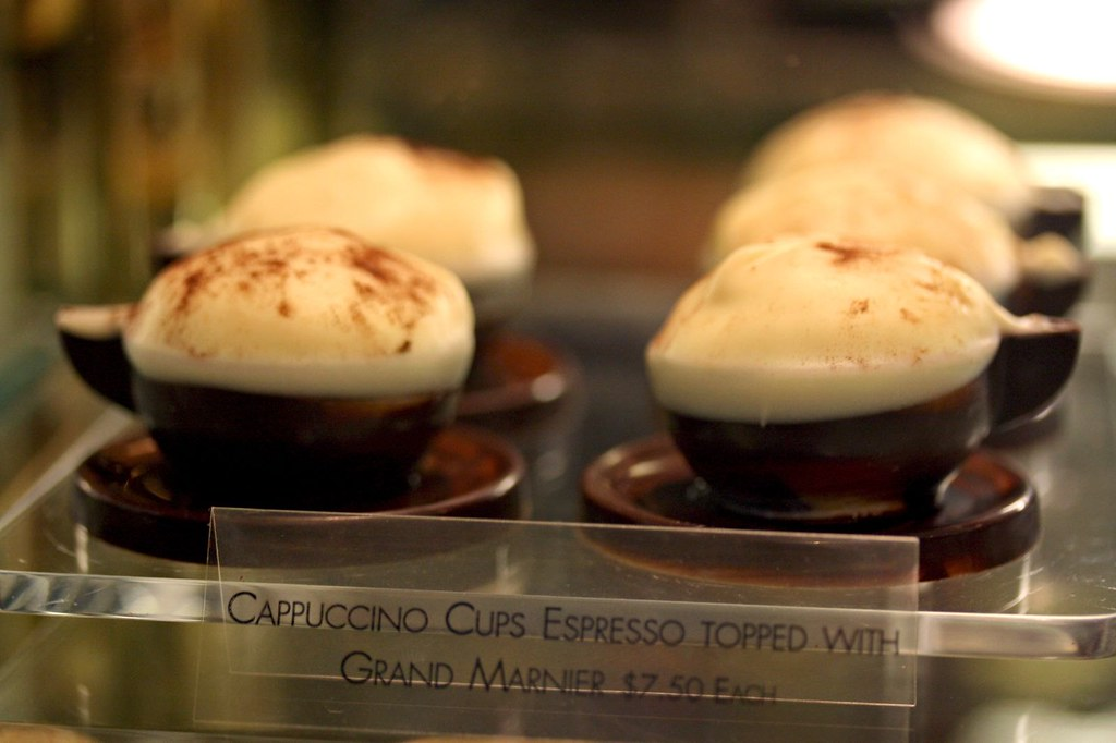 Cappuccino Cups Espresso Topped with Grand Marnier