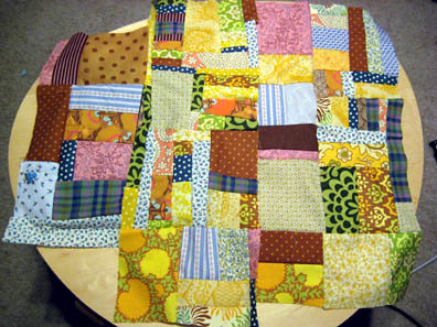 Scrap Quilt: In progress