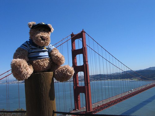 P.J. in front of Golden Gate Bridge