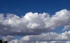 The clouds are falling... (Verna R) Tags: blue sky clouds whitefluffyclouds fluffyclouds