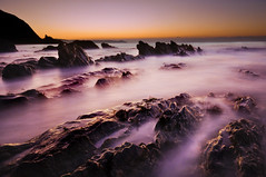 Rame Head from Portwrinkle; Cornwall (Corica) Tags: longexposure sea water sunrise landscape nikon rocks cornwall slate englishchannel shale d300 ramehead corica portwrinkle dapagroup dapagroupmeritaward nikond300 finneygookbeach
